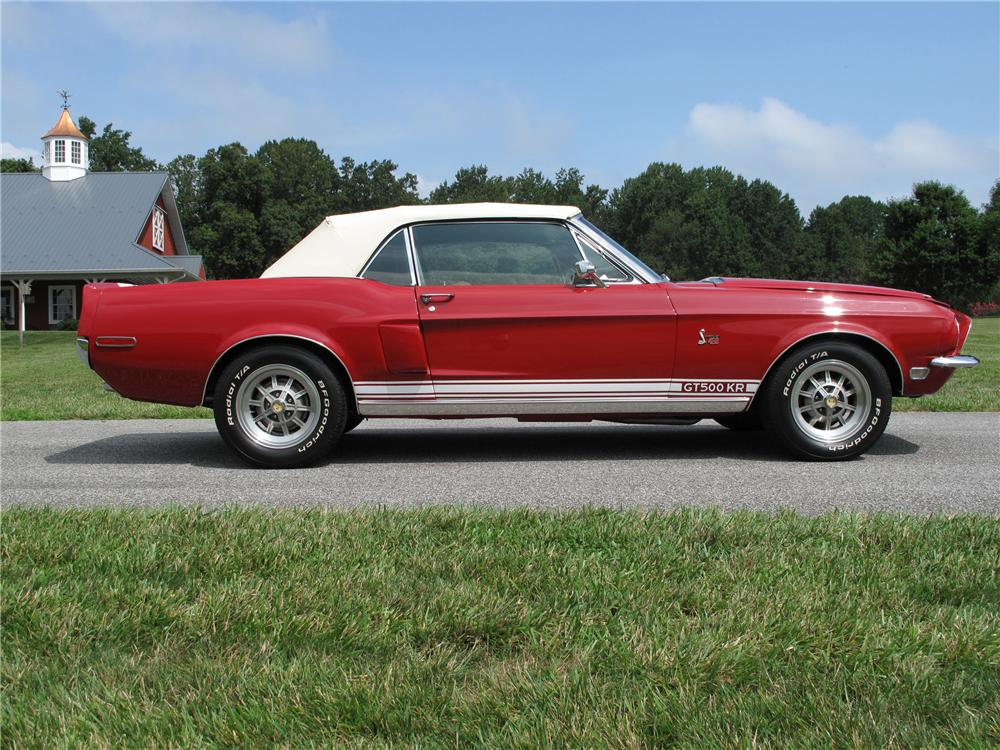 1968 SHELBY GT500 KR CONVERTIBLE - Side Profile - 81021