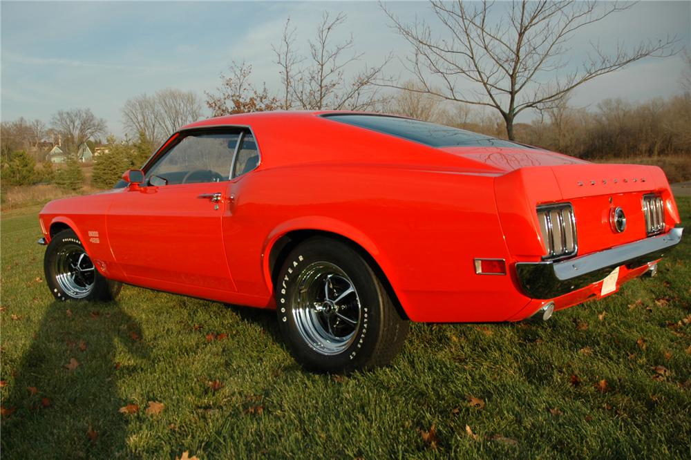 1970 FORD MUSTANG BOSS 429 FASTBACK - Rear 3/4 - 81025