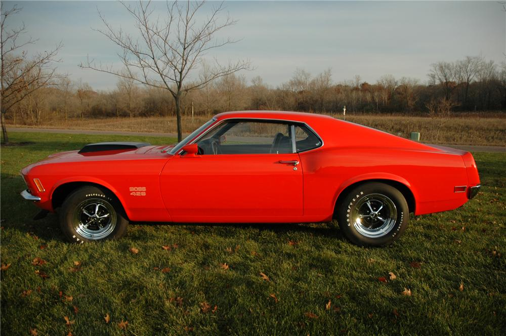 1970 FORD MUSTANG BOSS 429 FASTBACK - Side Profile - 81025