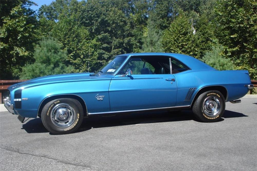 1969 CHEVROLET CAMARO RS/SS 2 DOOR COUPE - Side Profile - 81037