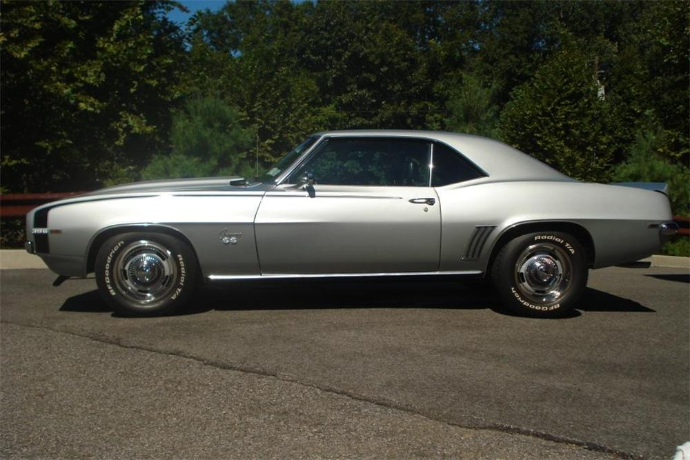 1969 CHEVROLET CAMARO SS 2 DOOR COUPE - Side Profile - 81038
