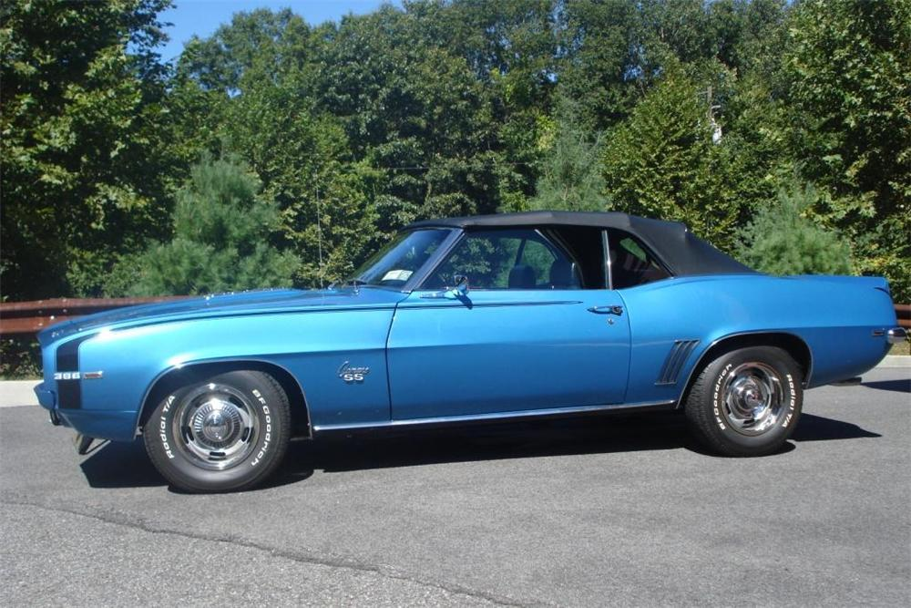 1969 CHEVROLET CAMARO RS/SS CONVERTIBLE - Side Profile - 81039