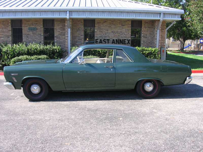1967 MERCURY COMET 2 DOOR COUPE - Side Profile - 81040
