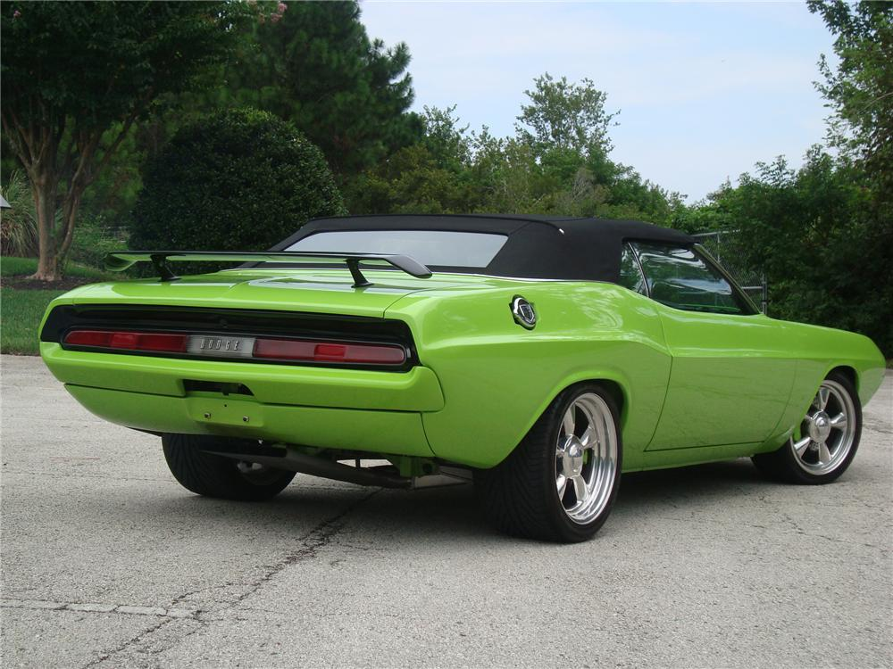 1970 DODGE CHALLENGER CONVERTIBLE - Rear 3/4 - 81041