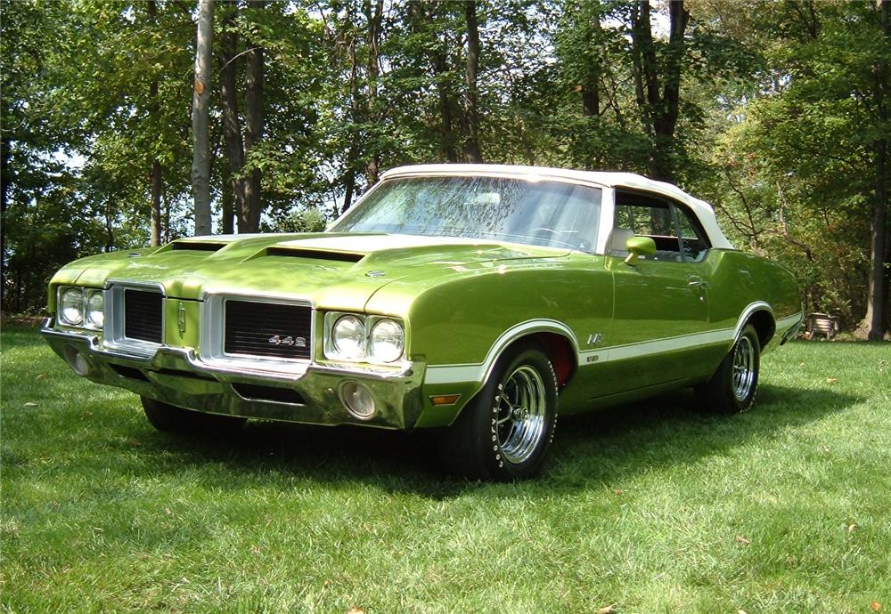1971 OLDSMOBILE 442 W30 CONVERTIBLE - Side Profile - 81043