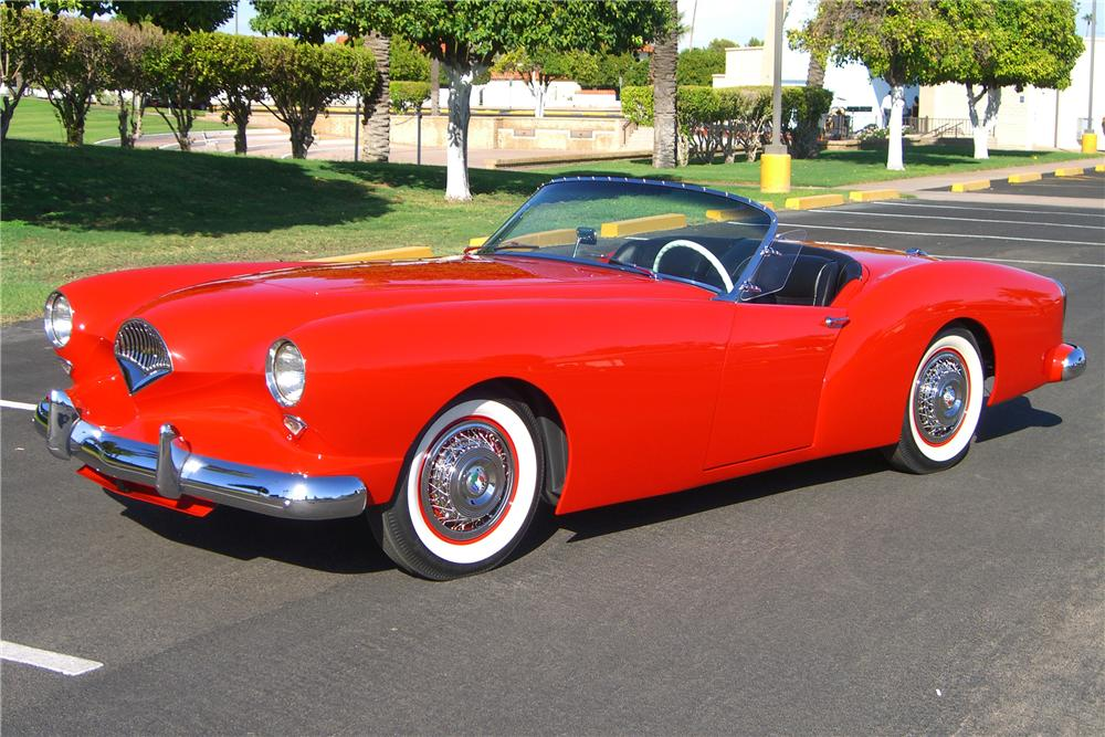 1954 KAISER DARRIN SUPERCHARGED CONVERTIBLE - Front 3/4 - 81065