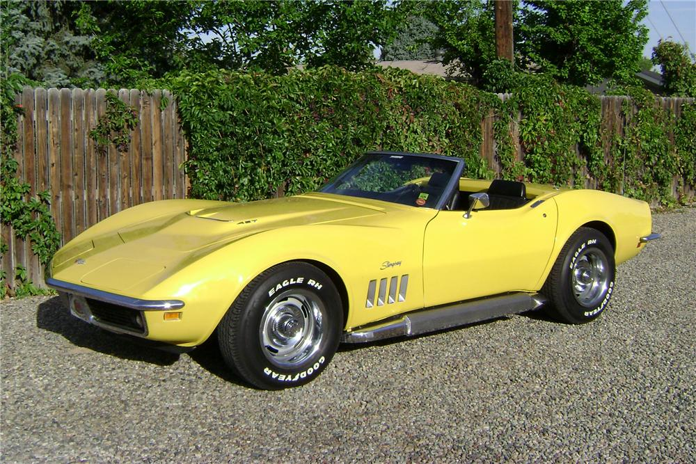 1969 CHEVROLET CORVETTE CONVERTIBLE - Front 3/4 - 81074