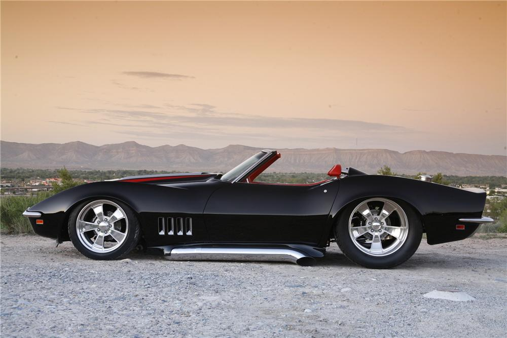 1969 CHEVROLET CORVETTE CUSTOM CONVERTIBLE - Side Profile - 81078