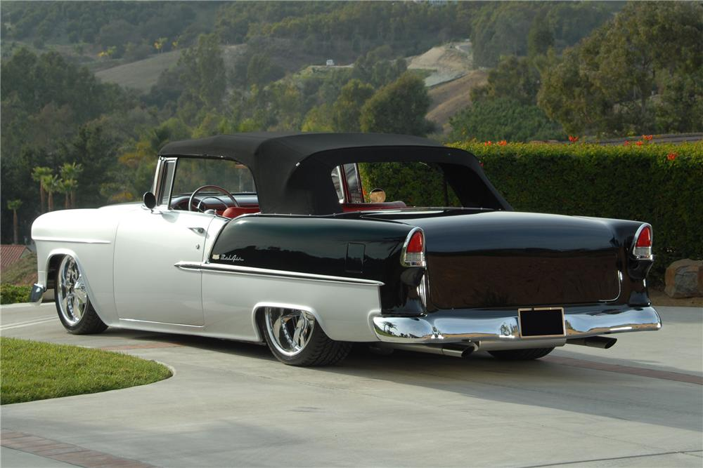 1955 CHEVROLET BEL AIR CUSTOM CONVERTIBLE - Rear 3/4 - 81081