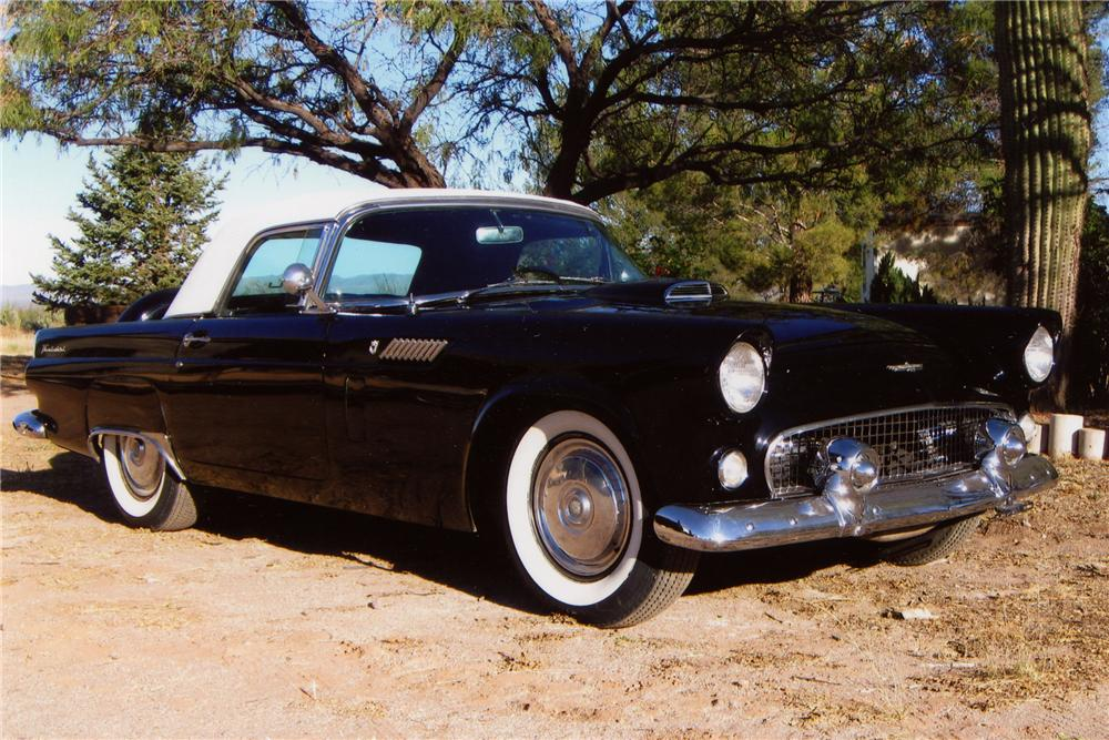 1956 FORD THUNDERBIRD CONVERTIBLE - Front 3/4 - 81084
