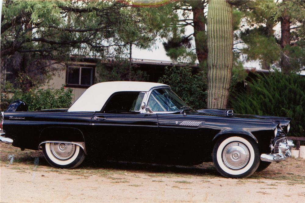 1956 FORD THUNDERBIRD CONVERTIBLE - Side Profile - 81084