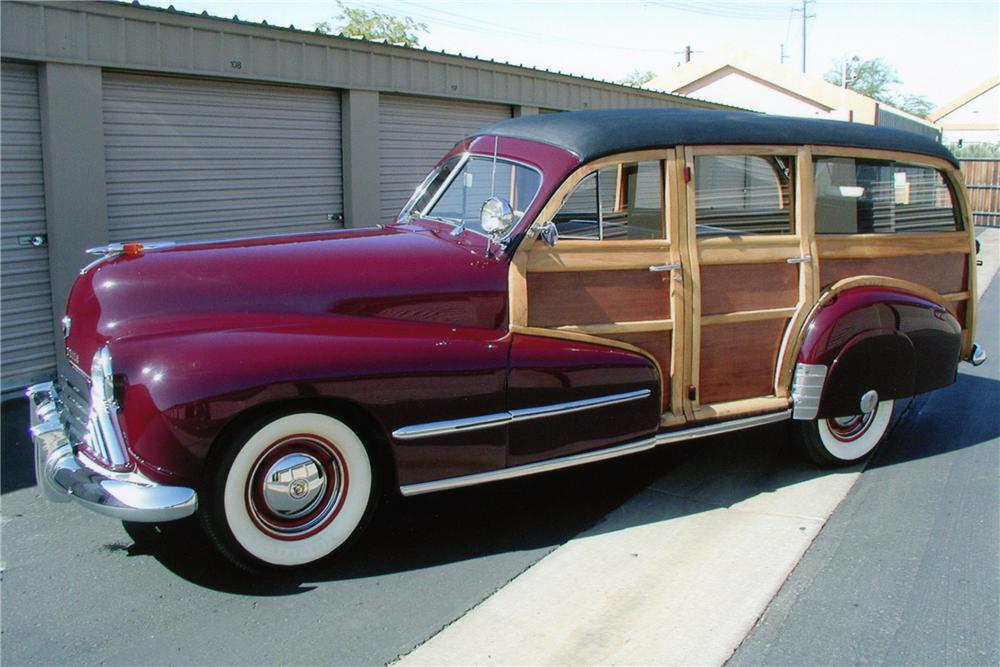 1948 OLDSMOBILE WOODY 4 DOOR WAGON - Front 3/4 - 81089