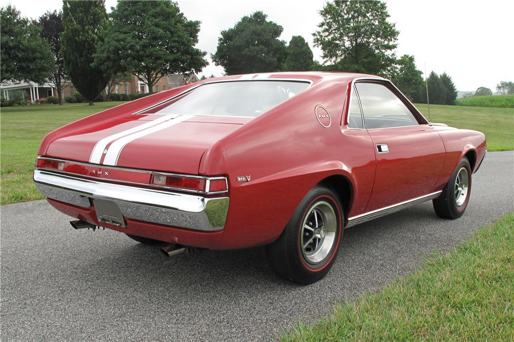 1969 AMERICAN MOTORS AMX 2 DOOR HARDTOP - Rear 3/4 - 81095