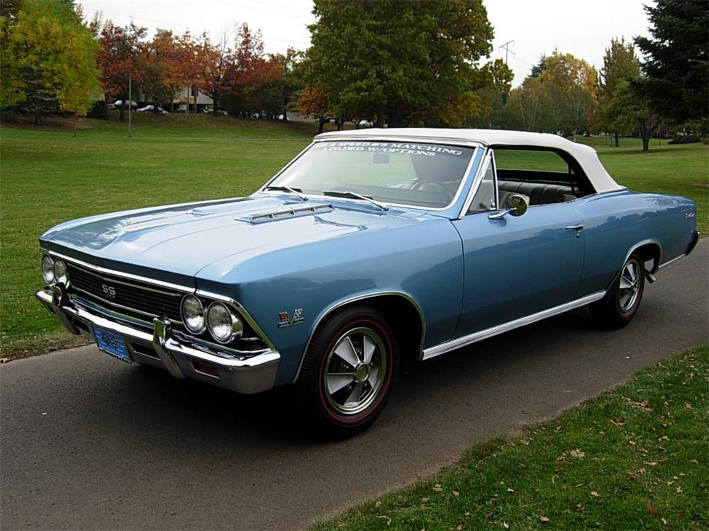 1966 CHEVROLET CHEVELLE SS 396 CONVERTIBLE - Front 3/4 - 81103