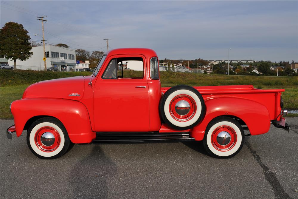 1953 CHEVROLET 3100 PICKUP - Side Profile - 81105