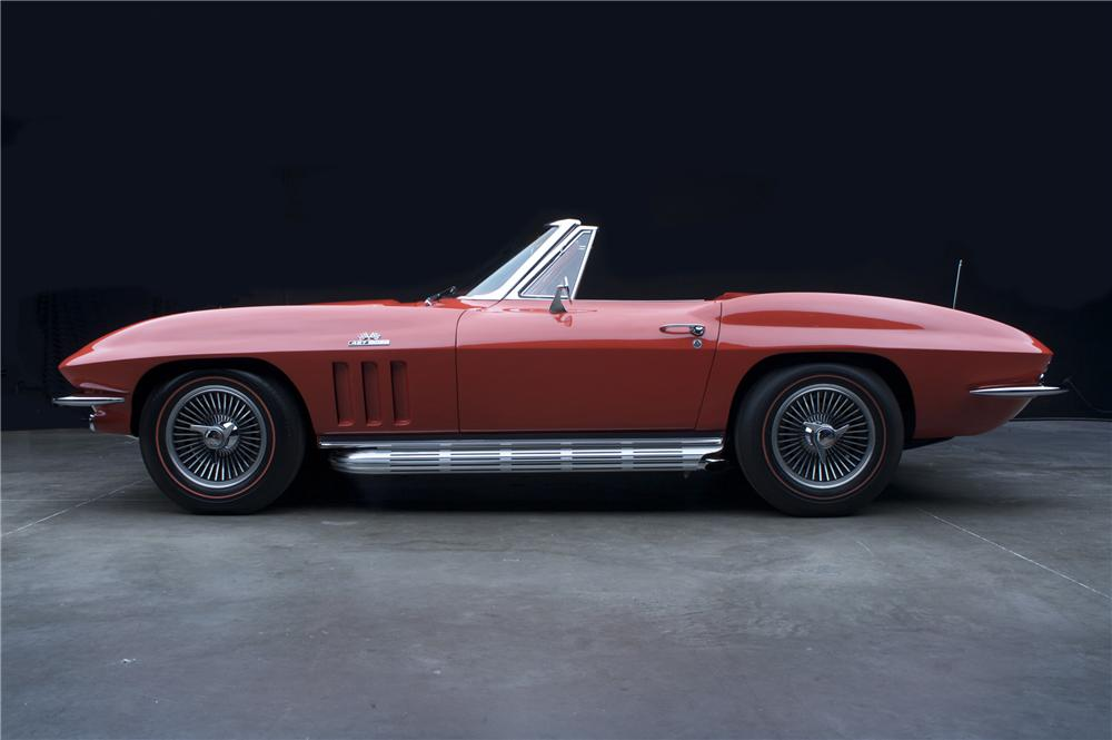 1966 CHEVROLET CORVETTE CONVERTIBLE - Side Profile - 81114