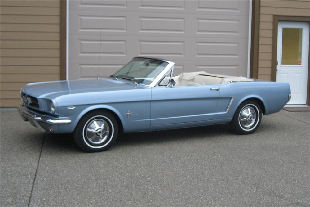 1965 FORD MUSTANG CONVERTIBLE - Side Profile - 81118