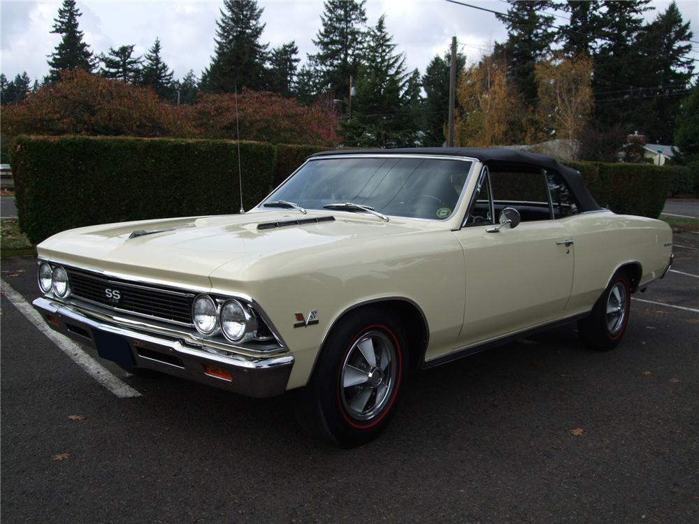 1966 CHEVROLET CHEVELLE SS 396 CONVERTIBLE - Front 3/4 - 81128