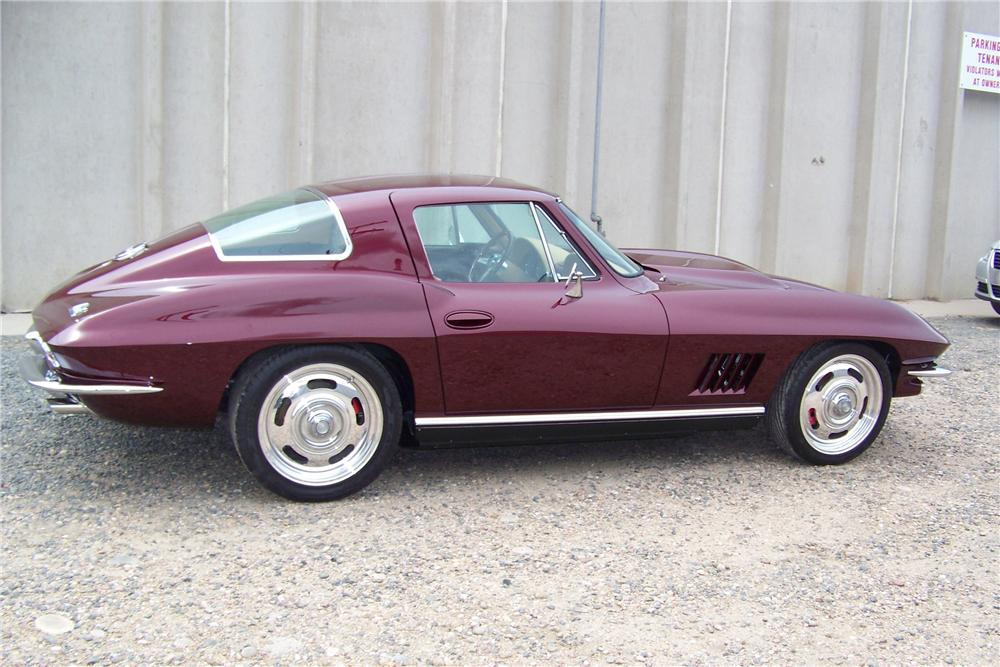 1966 CHEVROLET CORVETTE CUSTOM COUPE - Side Profile - 81130