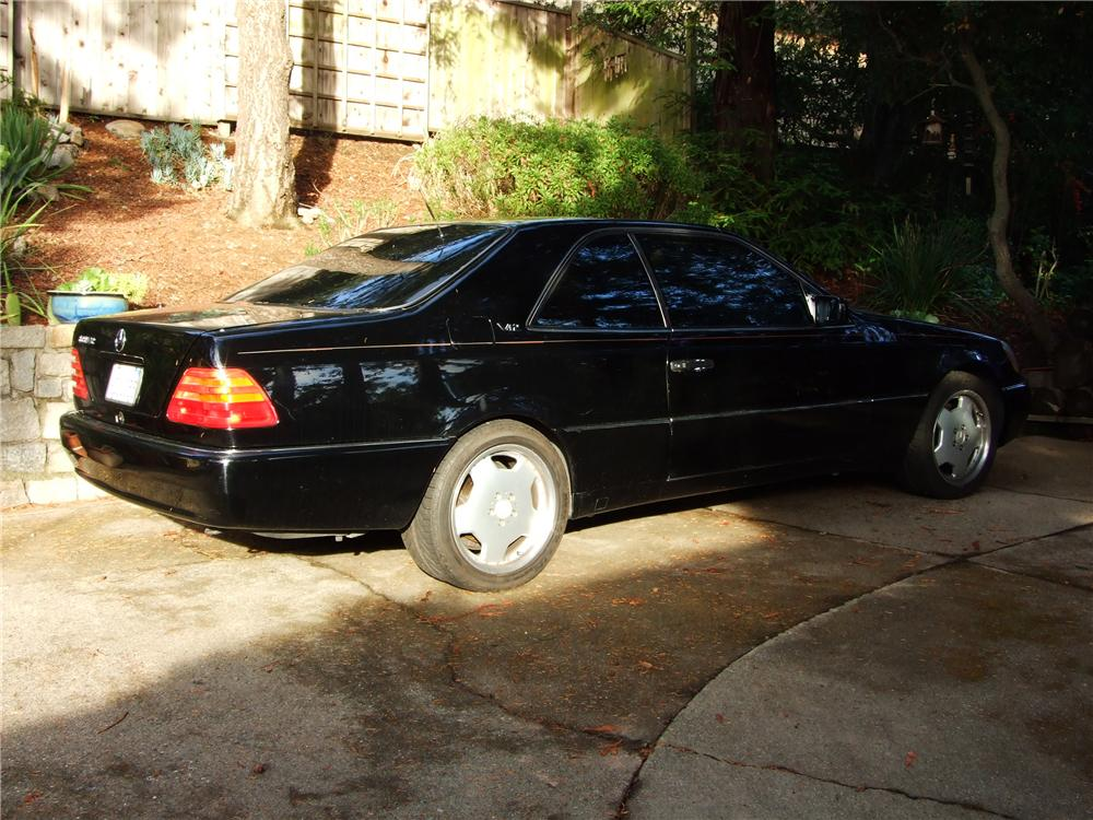 1993 MERCEDES-BENZ 600SEC 2 DOOR COUPE - Rear 3/4 - 81134