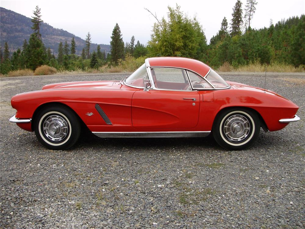1962 CHEVROLET CORVETTE CONVERTIBLE - Side Profile - 81142