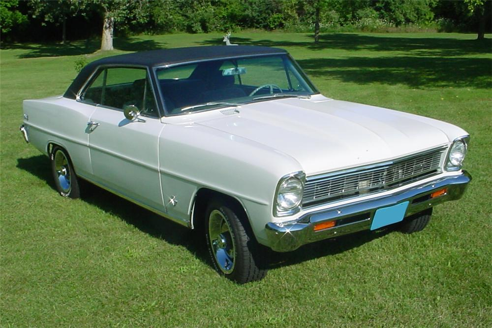 1966 CHEVROLET NOVA CUSTOM 2 DOOR COUPE - Front 3/4 - 81153