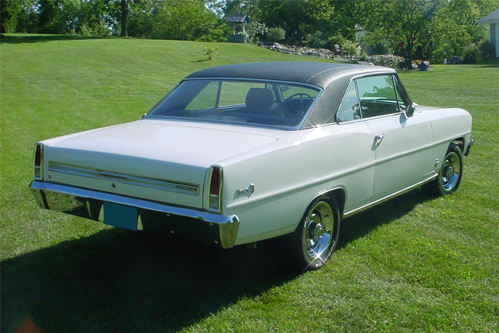 1966 CHEVROLET NOVA CUSTOM 2 DOOR COUPE - Rear 3/4 - 81153