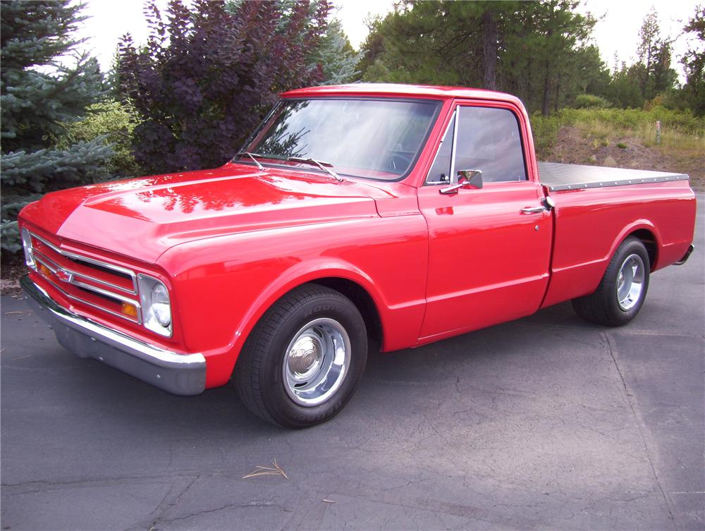 1968 CHEVROLET CUSTOM SWB PICKUP - Front 3/4 - 81170