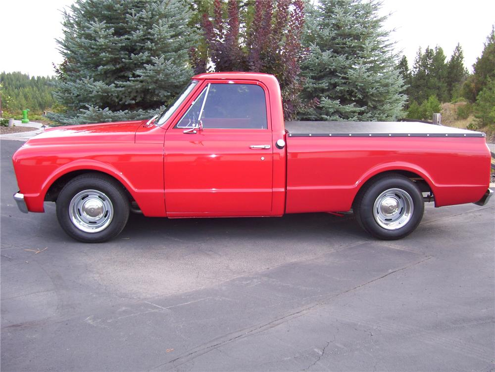1968 CHEVROLET CUSTOM SWB PICKUP - Side Profile - 81170