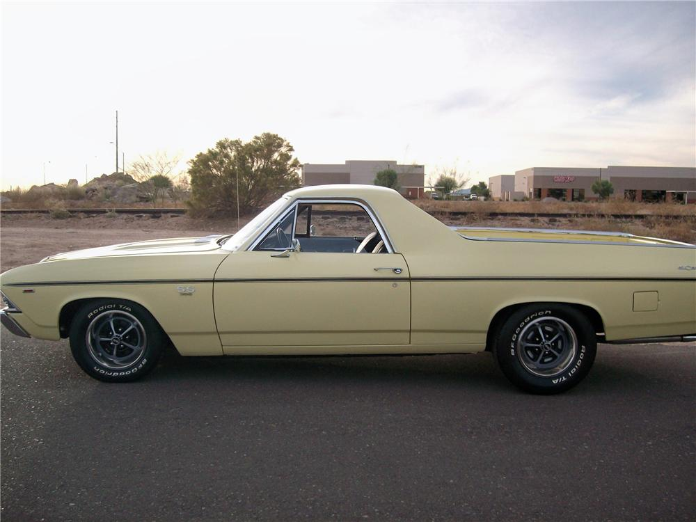 1969 CHEVROLET EL CAMINO PICKUP - Side Profile - 81173