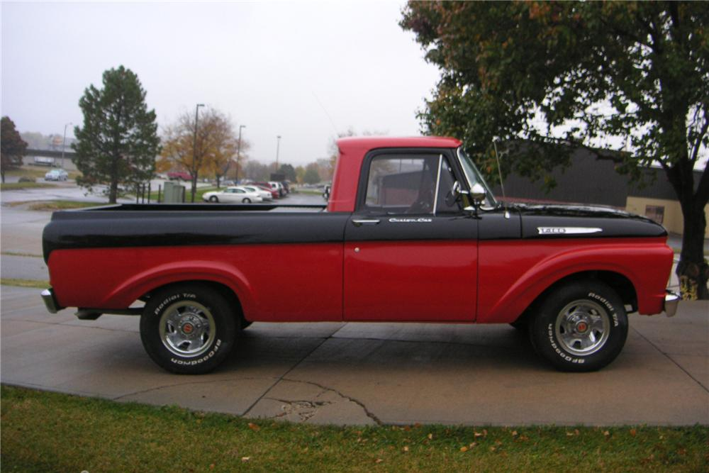 1961 FORD F-100 CUSTOM  SHORT BOX PICKUP - Side Profile - 81176
