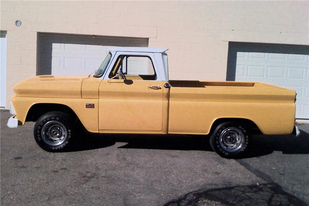 1966 CHEVROLET FLEETSIDE 1/2 TON PICKUP - Side Profile - 81183