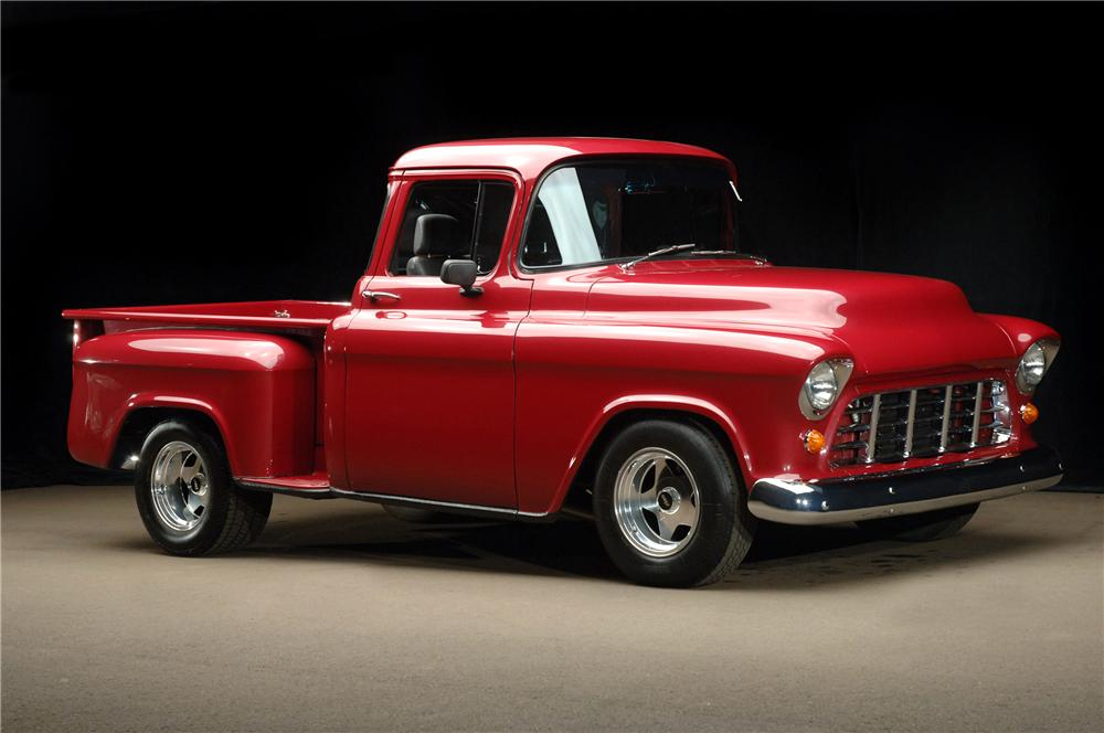 1955 CHEVROLET C-10 CUSTOM PICKUP - Front 3/4 - 81188