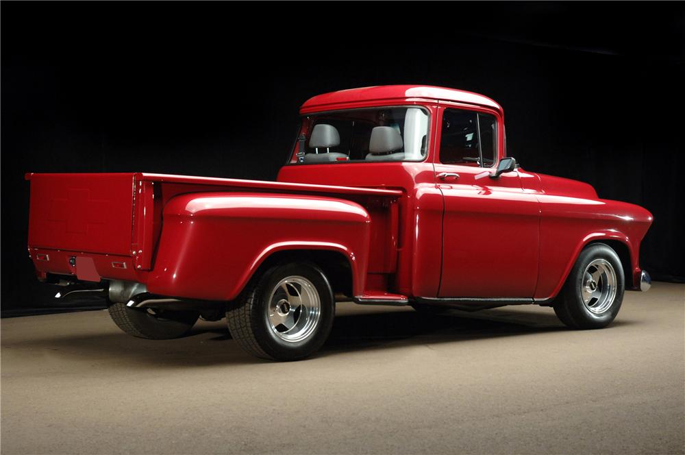 1955 CHEVROLET C-10 CUSTOM PICKUP - Rear 3/4 - 81188
