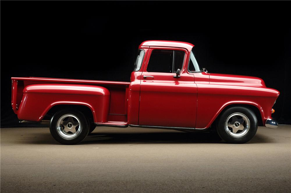 1955 CHEVROLET C-10 CUSTOM PICKUP - Side Profile - 81188