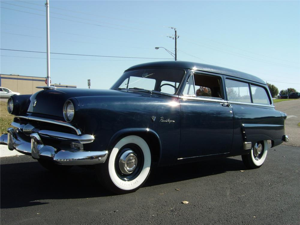 1953 FORD RANCH WAGON 2 DOOR - Front 3/4 - 81204