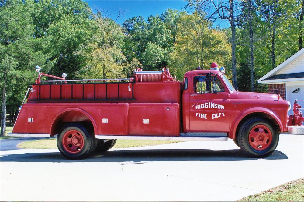 1954 DODGE C-1-H FIRETRUCK - Side Profile - 81208