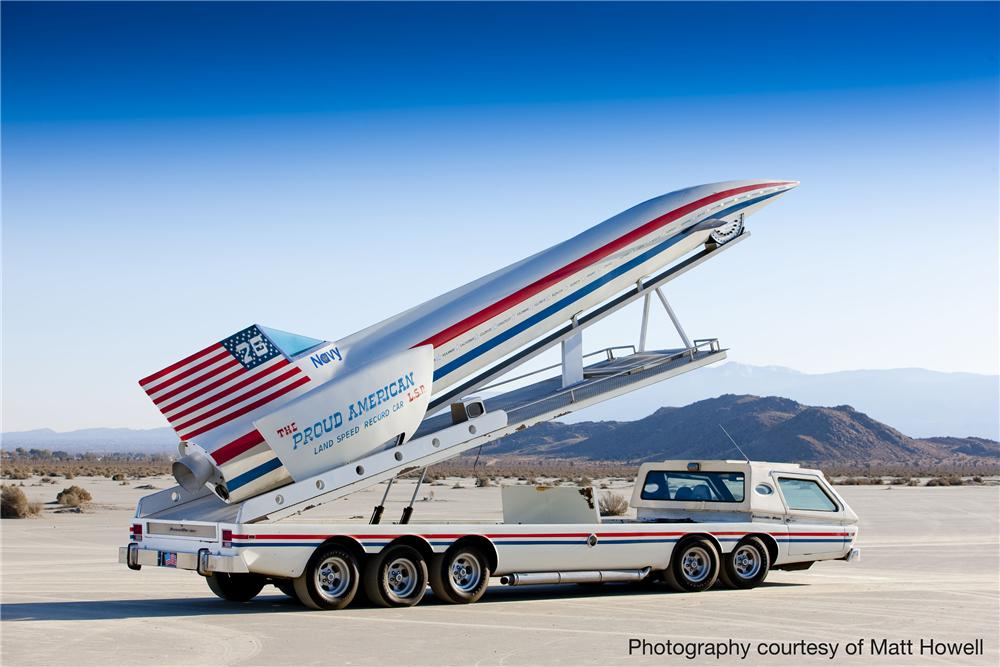 1975 SPECIAL CONSTRUCTION BONNEVILLE BOSS CUSTOM LSR HAULER AND MODEL - Side Profile - 81218