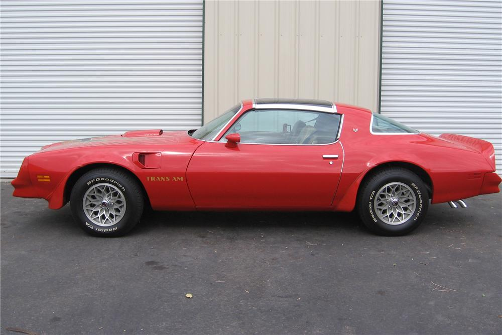 1977 PONTIAC TRANS AM 2 DOOR HARDTOP - Side Profile - 81222