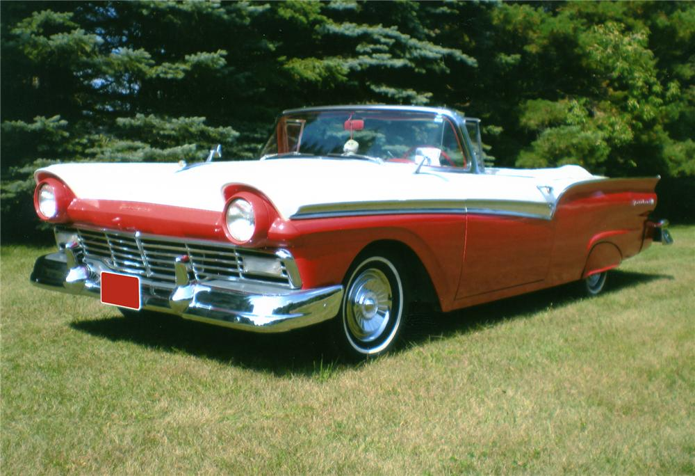 1957 FORD FAIRLANE 500 CONVERTIBLE - Front 3/4 - 81223