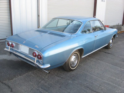 1966 CHEVROLET CORVAIR 2 DOOR HARDTOP - Rear 3/4 - 81243
