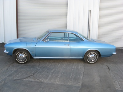1966 CHEVROLET CORVAIR 2 DOOR HARDTOP - Side Profile - 81243