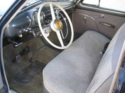 1949 FORD DELUXE 4 DOOR HARDTOP - Interior - 81244