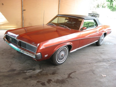 1969 MERCURY COUGAR CONVERTIBLE - Front 3/4 - 81250