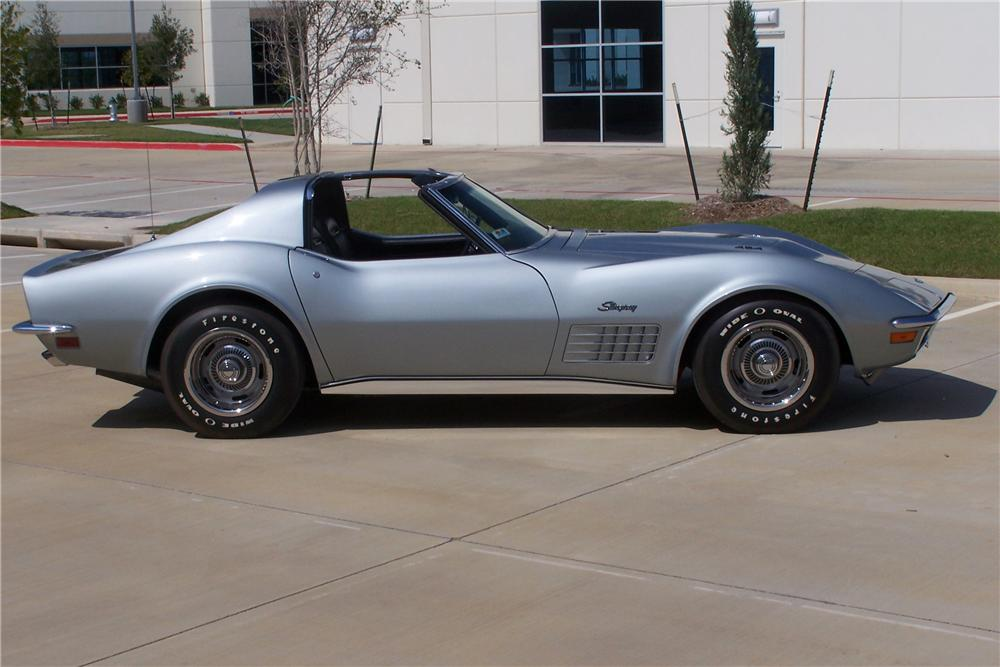 1971 CHEVROLET CORVETTE COUPE - Side Profile - 81252