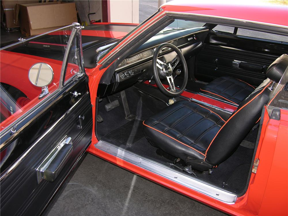 1969 PLYMOUTH ROAD RUNNER 2 DOOR COUPE - Interior - 81255
