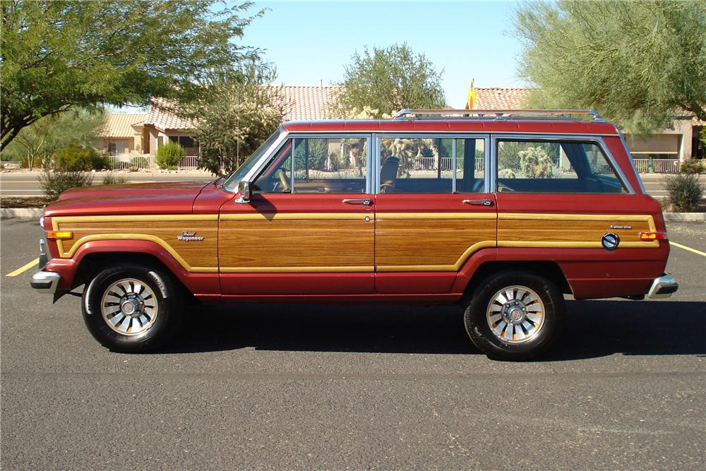 1985 JEEP GRAND WAGONEER WAGON - Side Profile - 81257