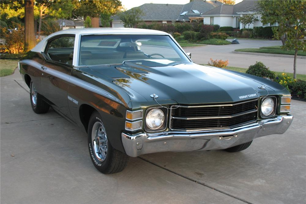 1971 CHEVROLET CHEVELLE HEAVY CHEVY 2 DOOR COUPE - Front 3/4 - 81267
