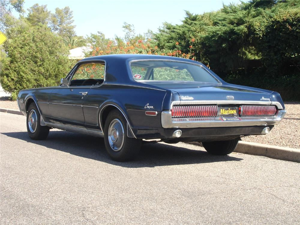 1968 MERCURY COUGAR 2 DOOR HARDTOP - Rear 3/4 - 81272
