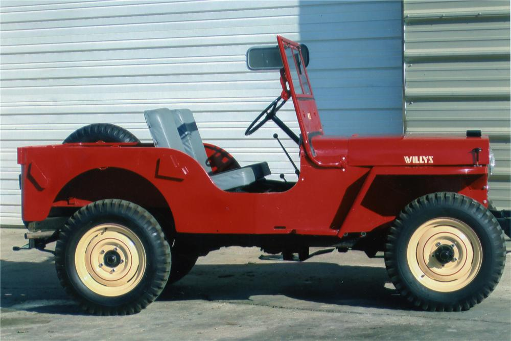 1948 WILLYS JEEP CJ2A   - Side Profile - 81284